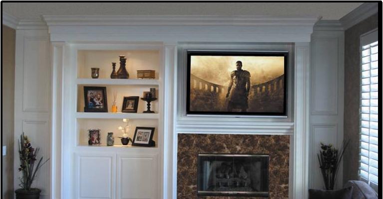 Custom Fireplace Entertainment Center - Metro Style