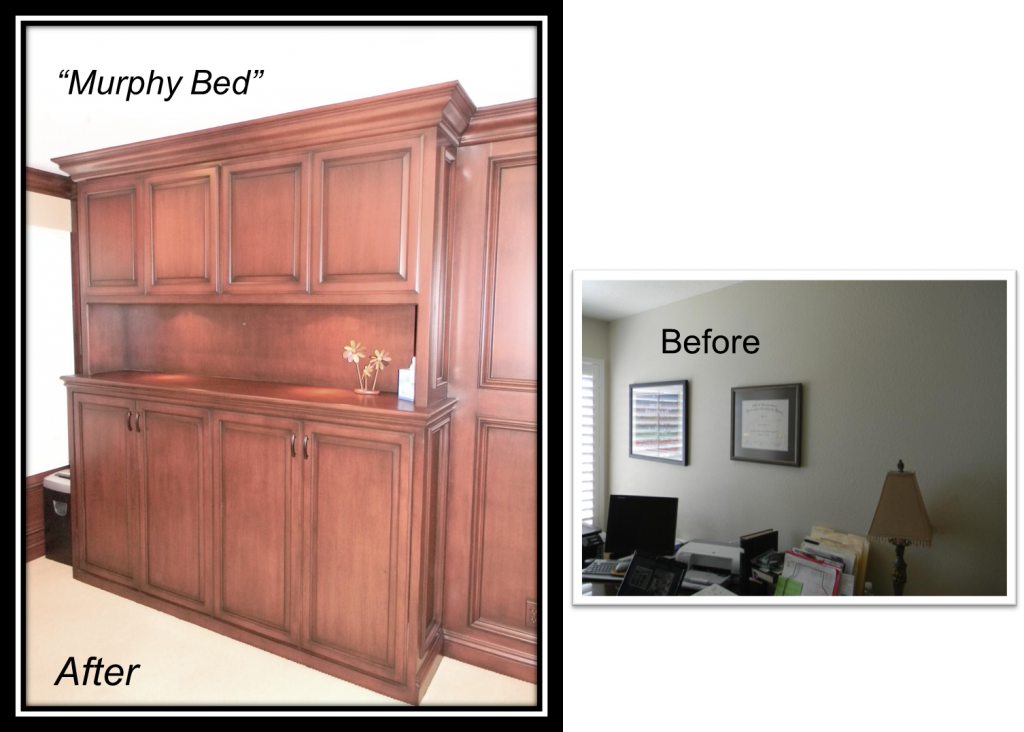 Built-In Work Station & Murphy Bed