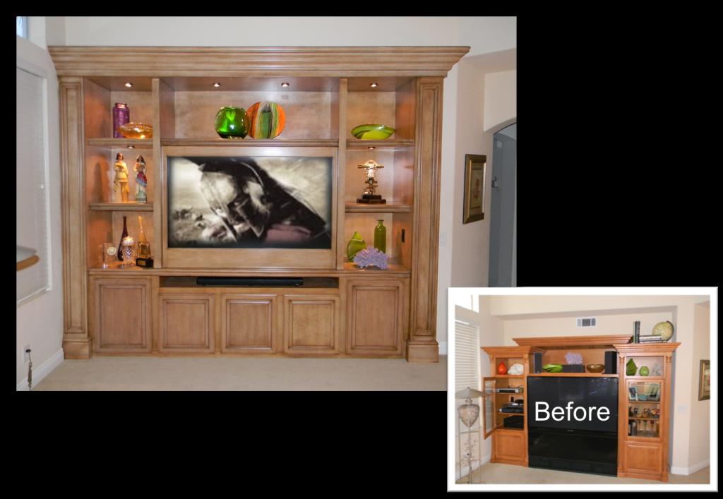 TV Hutch decoration