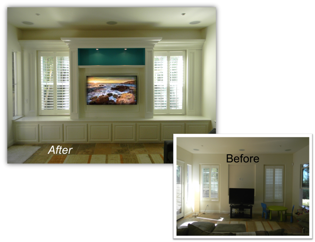 Hand Crafted Custom Built-In - Home Theater Solution