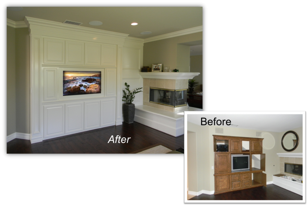 Hand Crafted Custom Built-In Home Theater Solution