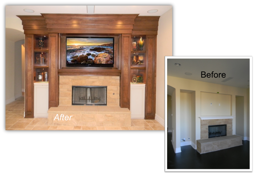 Hand Crafted Customer Built-In, Home Theater