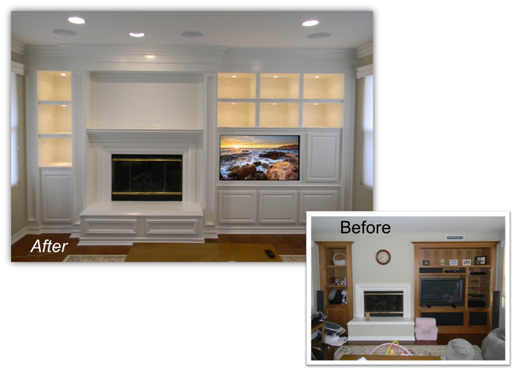 Hand Crafted Custom Built-In Entertainment Center