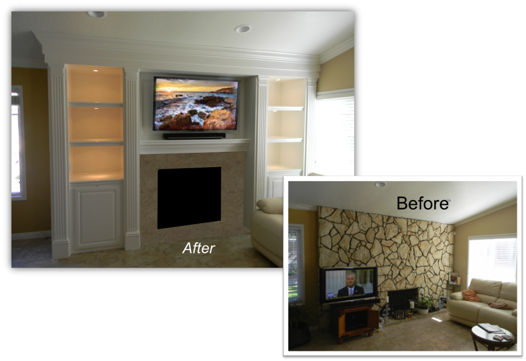 Smith Project Custom Entertainment Center - Home Theater