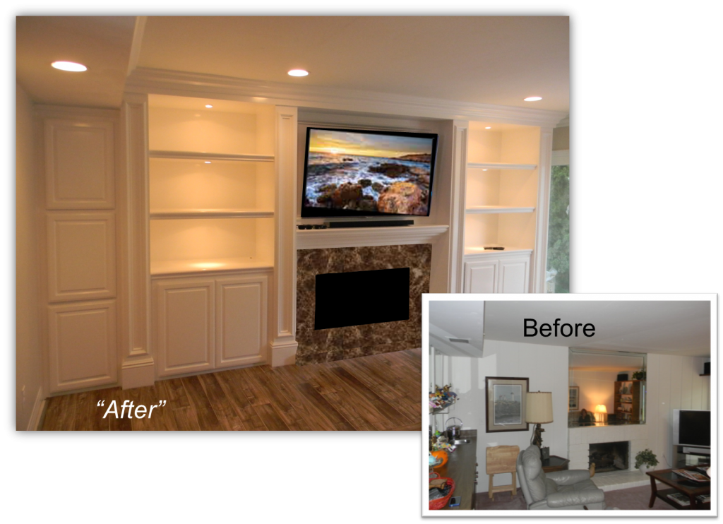 Hand Crafted Custom Built Entertainment Center by Appleton Renovations