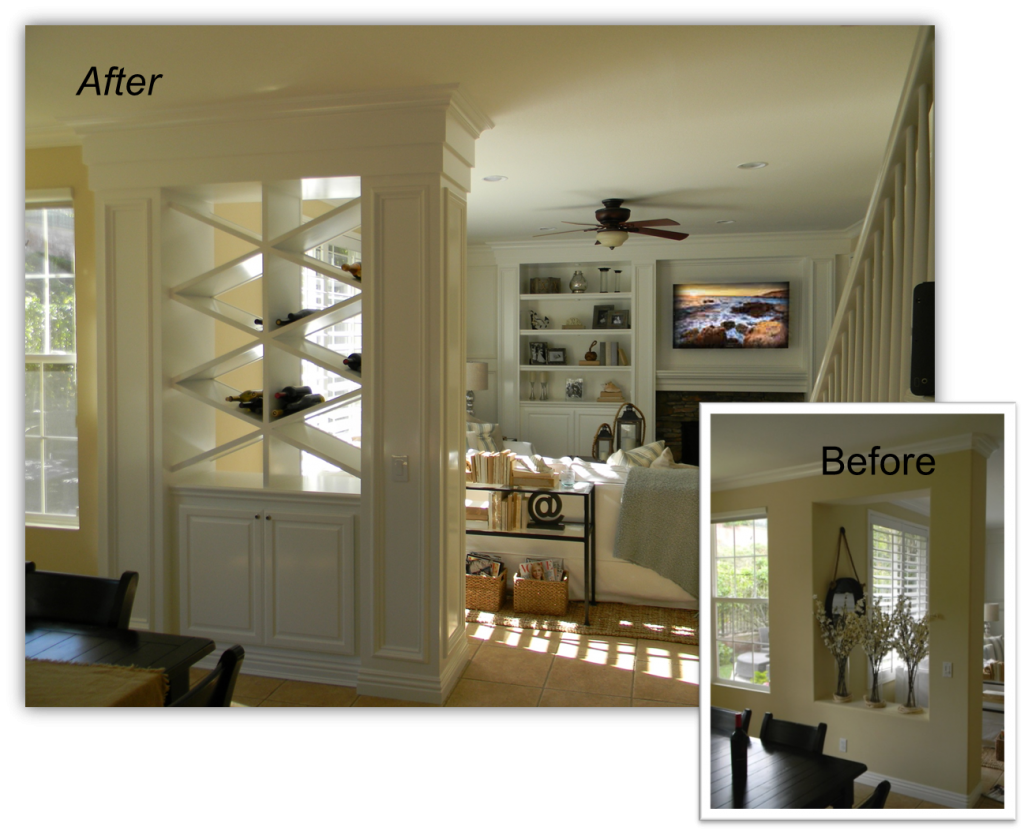 Hand Crafted Built In Wine rack with Entertainment Center