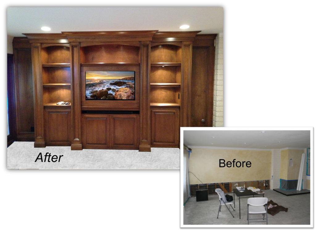 Hand Crafted Custom Entertainment Centers