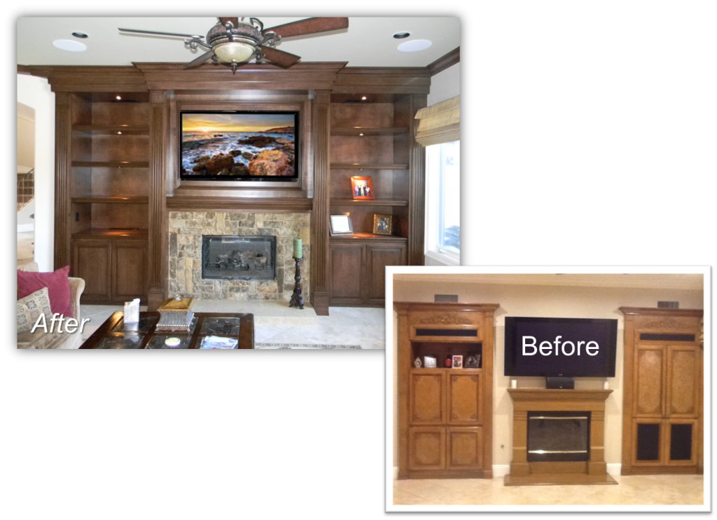 Hand Crafted Custom Fireplace Entertainment Centers