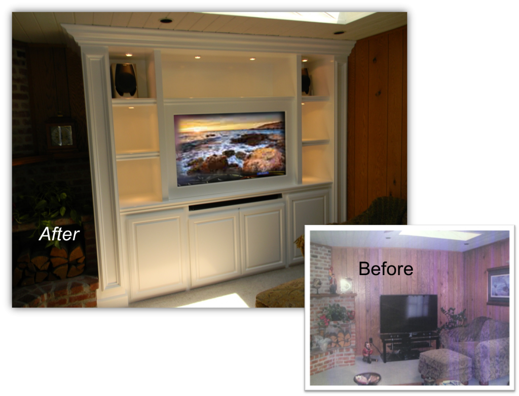 Hand Crafted  Built-Ins & Entertainment Centers by: www.AppletonRenovations.com For a FREE Design Consultation Call us at (949) 887-6764 or email us Sales@AppletonRenovations.com