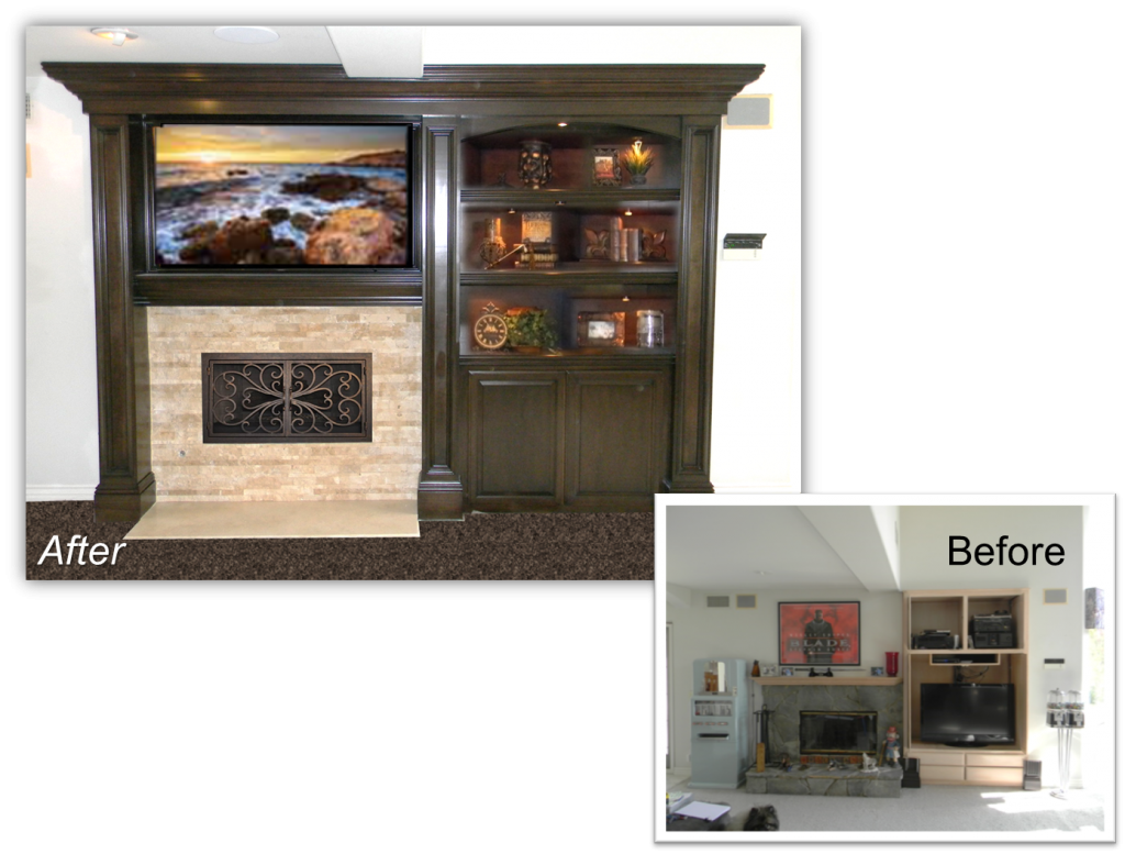 Hand Crafted  Built-Ins & Entertainment Center