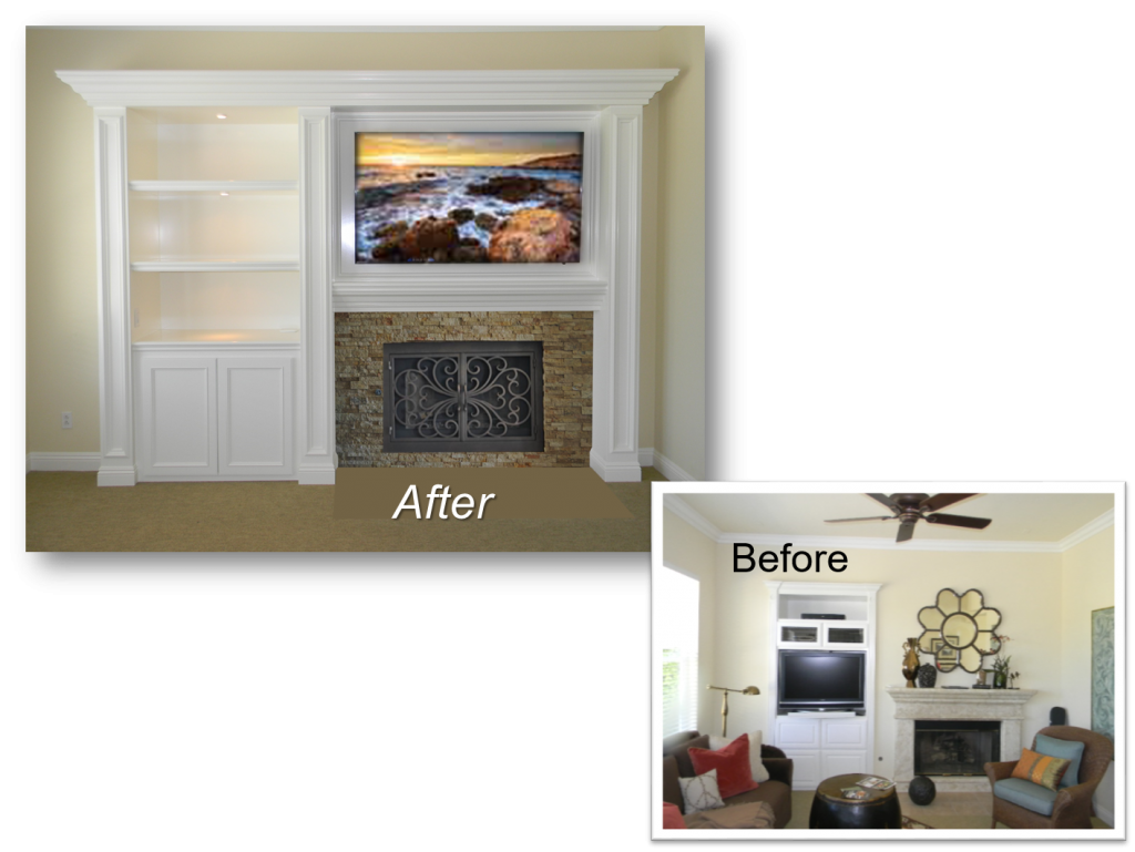 Custom Cabinets Orange county CA, built-in, Home Theater, Entertainment Centers