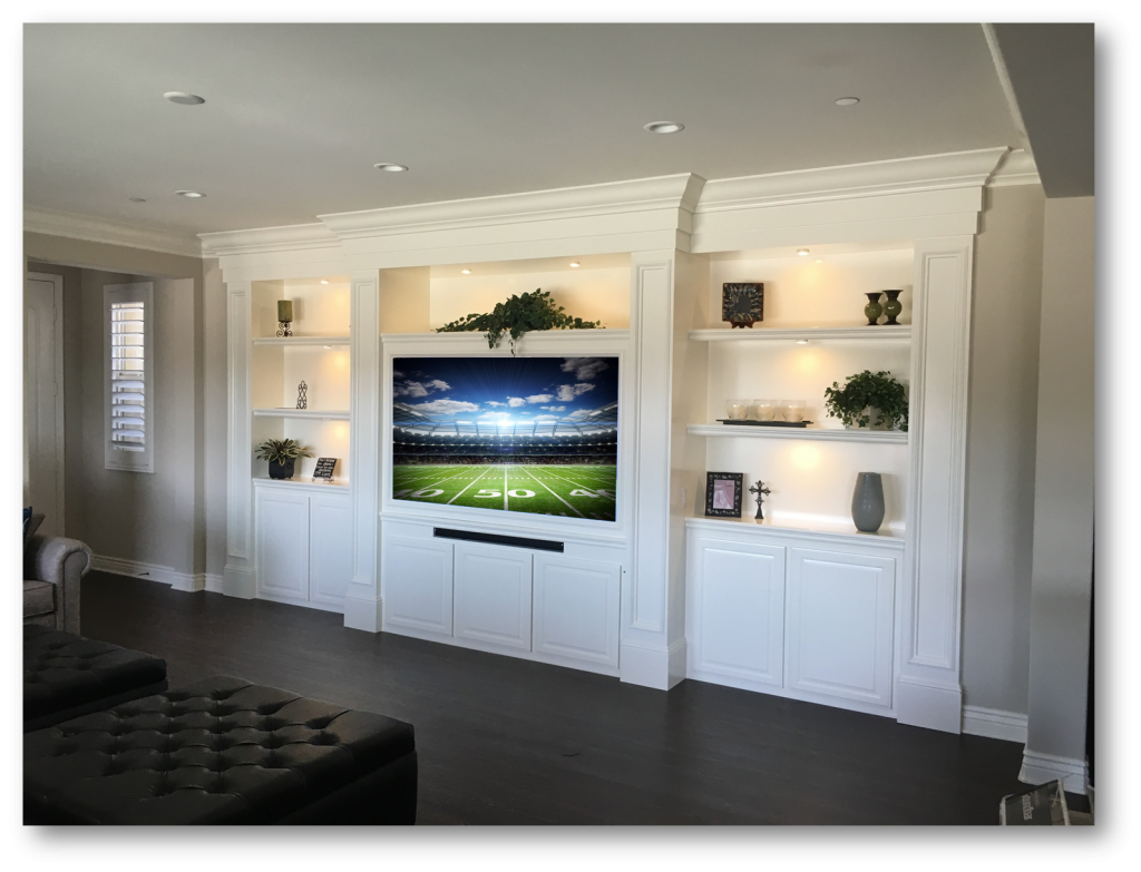 Custom Built-Ins - Entertainment Centers - Home Theater Solutions by: www.AppletonRenovations.com (949) 887-6764 Sales@AppletonRenovations.com 5 Star Rating with Yelp & Angies List