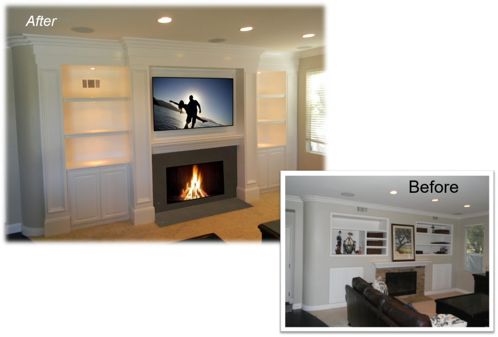 Custom Built-Ins – Entertainment Centers – Home Theater Solutions by: www.AppletonRenovations.com(949) 887-6764 Sales@AppletonRenovations.com Custom Cabinets Orange County CA