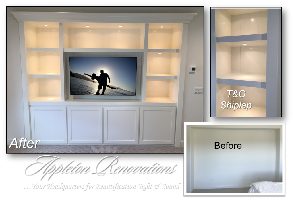 Custom Built-Ins – Entertainment Centers – Home Theater Solutions by: www.AppletonRenovations.com (949) 887-6764 Sales@AppletonRenovations.com Custom Cabinets Orange County CA