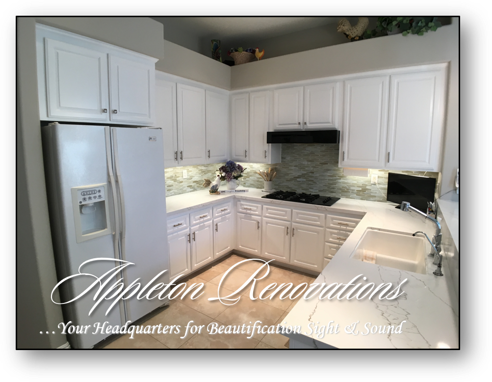 Kitchen Refacing - Custom Built-Ins – Entertainment Centers – Home Theater Solutions by: www.AppletonRenovations.com (949) 887-6764 Sales@AppletonRenovations.com Custom Cabinets Orange County CA