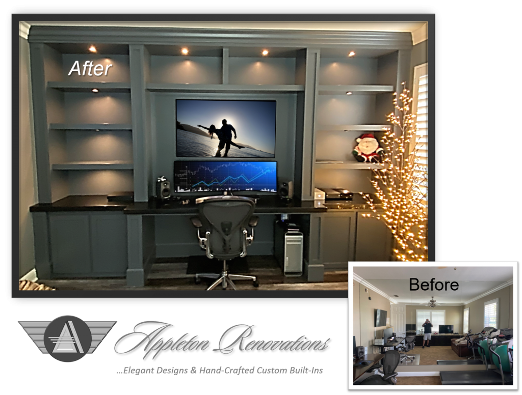 Custom Built-Ins – Entertainment Centers – Home Theater Solutions by: www.AppletonRenovations.com (949) 887-6764 Sales@AppletonRenovations.com Custom Cabinets Orange County CA #CustomBuiltIns #CustomCabinets #CustomEntertainmentCenters #HomeTheater#AppletonRenovations