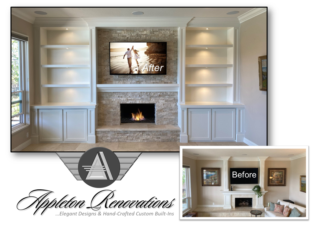 Custom Built-Ins – Entertainment Centers – Home Theater Solutions by: www.AppletonRenovations.com (949) 887-6764 Sales@AppletonRenovations.com Custom Cabinets Orange County CA, Ada County ID  #CustomBuiltIns #CustomCabinets #CustomEntertainmentCenters #HomeTheater #AppletonRenovations